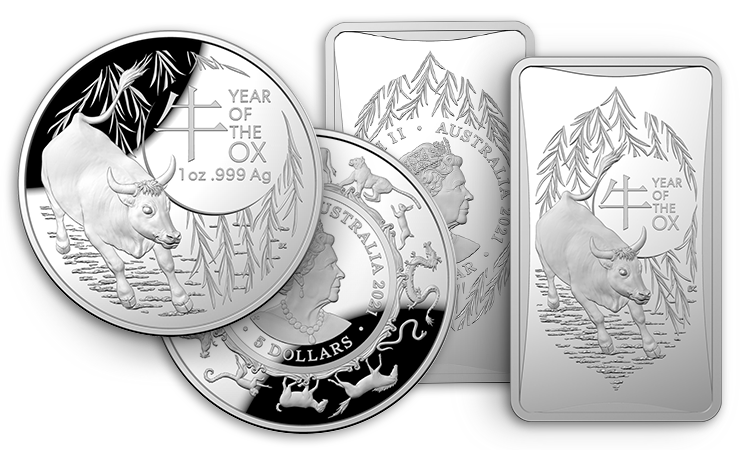 2021 Year of the Ox Silver Coins from the Royal Australian Mint