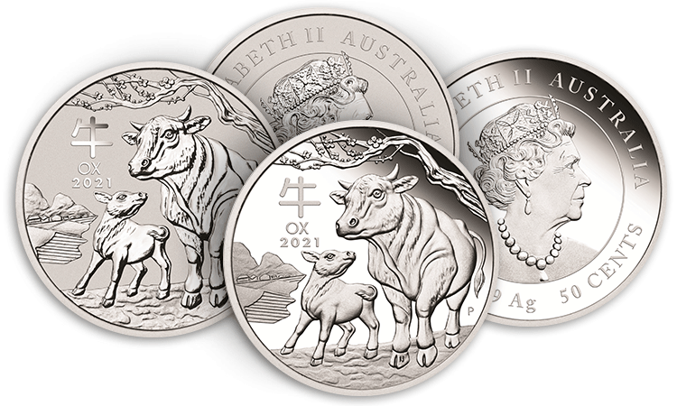 2021 Year of the Ox silver coins from the Perth Mint