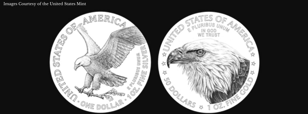 2021 American Silver and Gold Eagle Reverse Designs