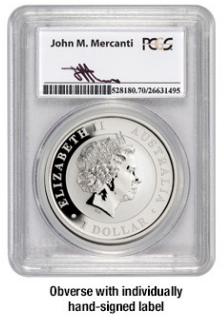 Signed Australia Silver Eagle