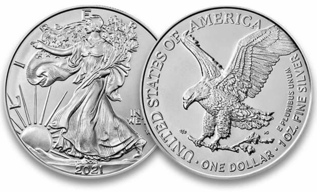 american silver eagle coins dollars ase type1 type2