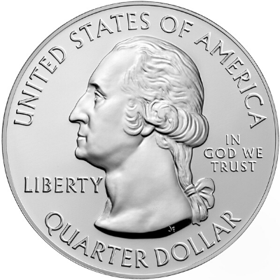 America the Beautiful 5 oz. Silver Obverse