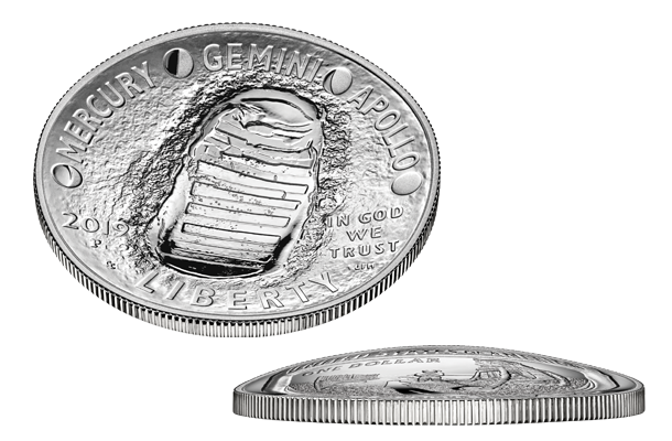 Curved coin design