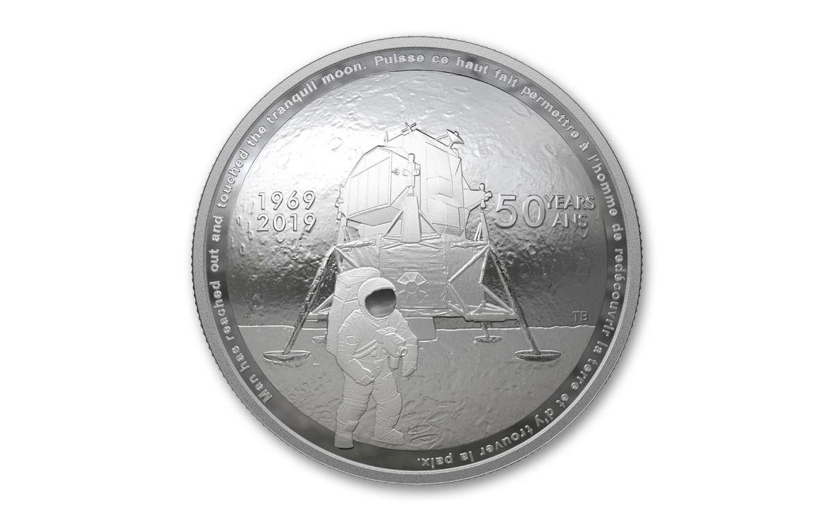 Canada Apollo anniversary silver domed coin