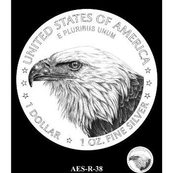 CCAC Candidate 2021 American Silver Eagle Reverse Design