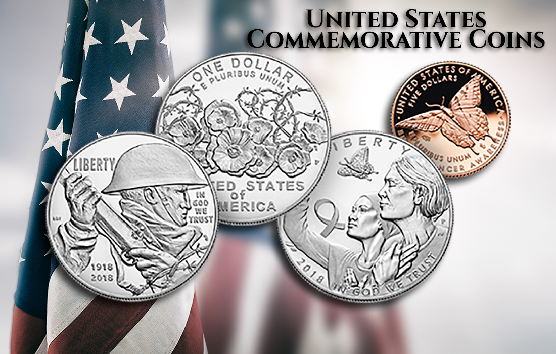 A Variety of United States Commemorative Coins