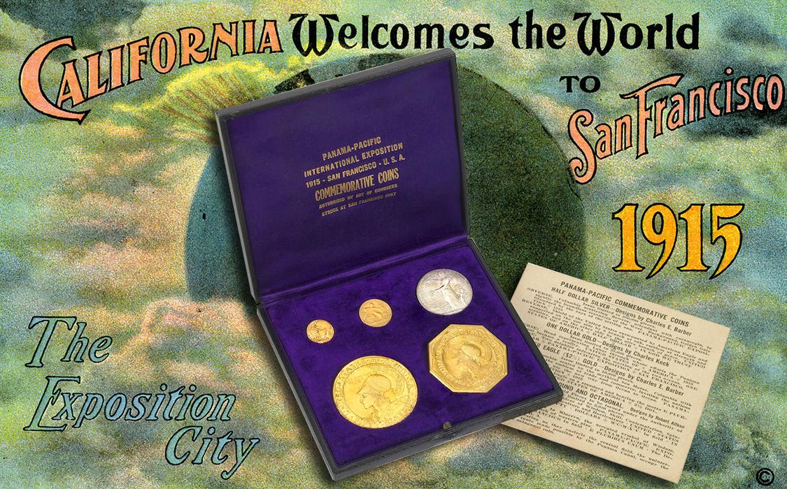 Commemorative Coin 1915 Panama Pacific Set