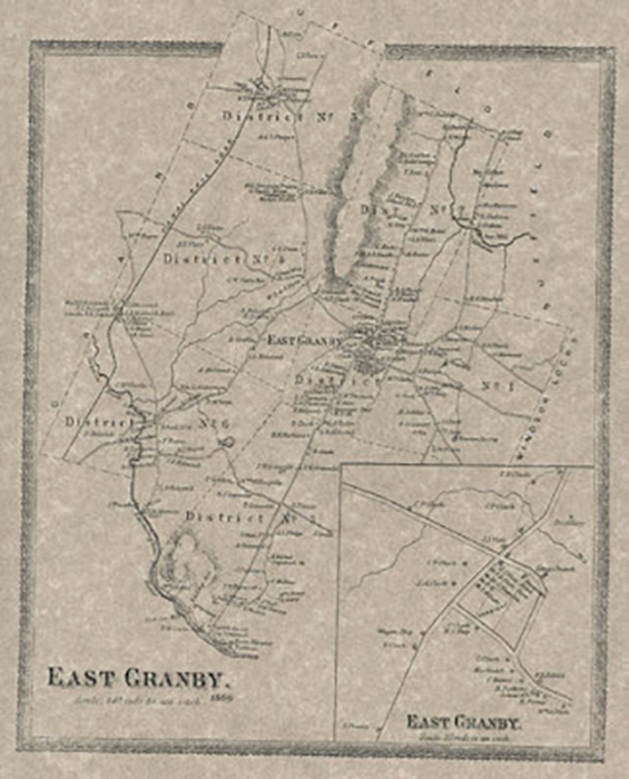 East Granby Map