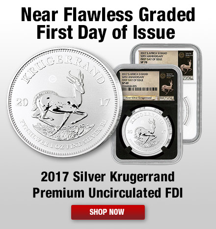 2017 Silver Krugerrand Premium Uncirculated First Day of Issue