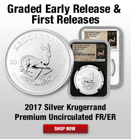 2017 Silver Krugerrand Premium Uncirculated First Release and Early Releases