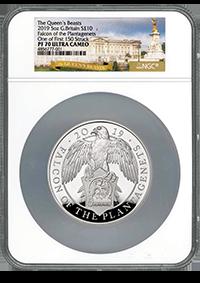 five ounce silver falcon