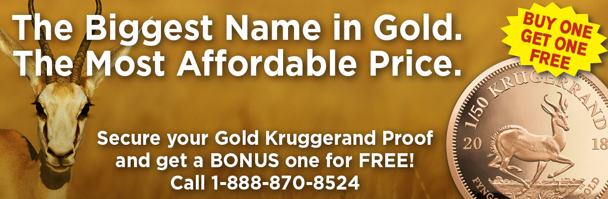 1/50th ounce gold Krugerrand