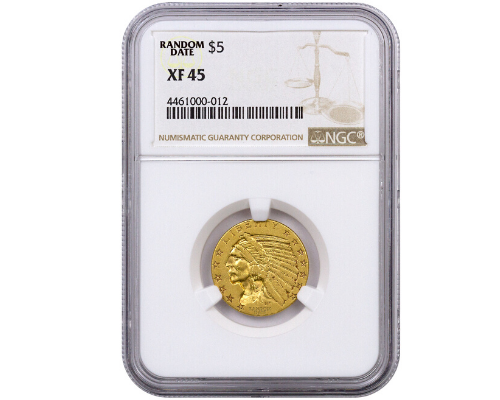 NGC Certified Gold Indian Head