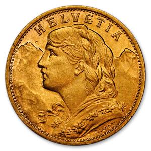 Helvetia Gold Coin