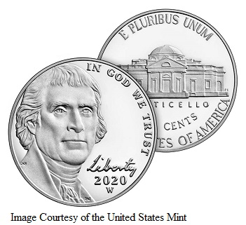 "First-Ever ""W"" Mint Marked Jefferson Nickel"