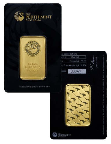 Perth Mint one-ounce gold bar
