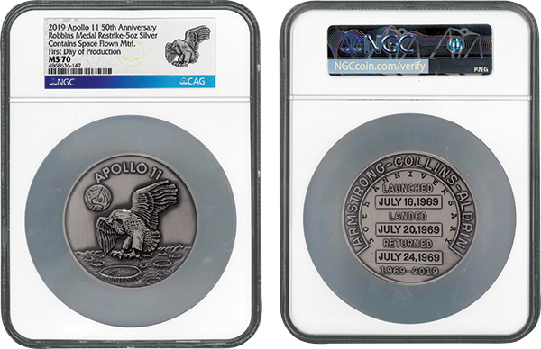 50th anniversay Apollo 11 silver Space flown FDP