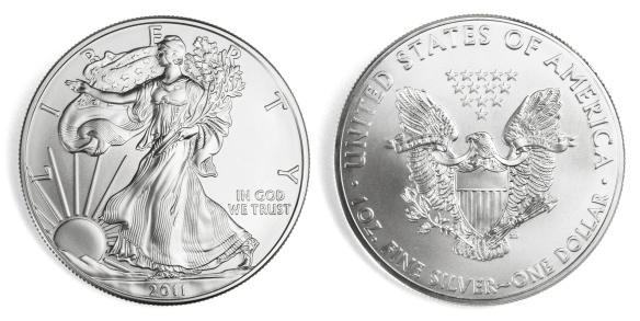 Traditional American Silver Eagle Obverse and Reverse Desgin