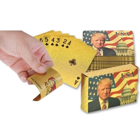 24 karat gold trump playing cards