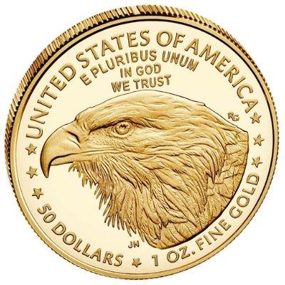 2021 American Gold Eagle Type 2 Reverse Design