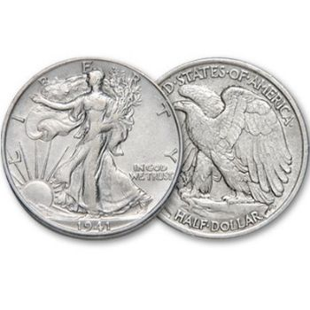 Walking Liberty Overse and Reverse Design