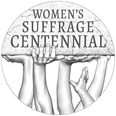 womens suffrage centennial silver medal