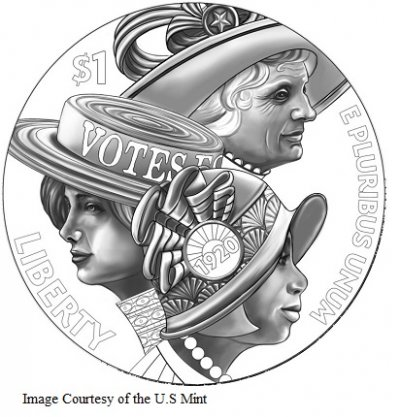 Women's Suffrage Centennial Silver Dollar Design